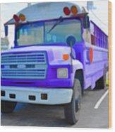 Outer Banks University Bus 1 Wood Print