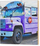 Outer Banks University Bus 2 Wood Print