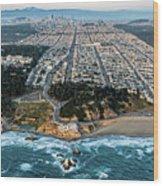Outer Richmond San Francisco Aerial Wood Print