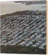 Outer Richmond San Francisco Aerialouter Richmond San Francisco Aerial Wood Print