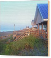 Outerbanks Sunrise At The Beach Wood Print