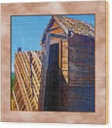 Outhouse 2 Wood Print