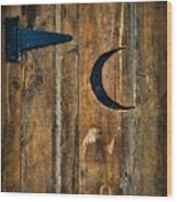 Outhouse Door  Wood Print