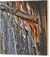 Outhouse Holzworth Historic Site Wood Print