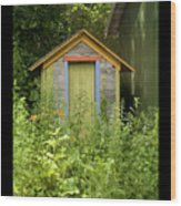 Outhouse Wood Print