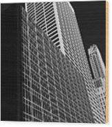 Outlines New York City Wood Print