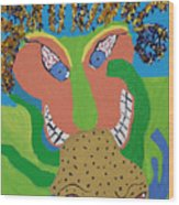 Outrageous Mind Control Wood Print