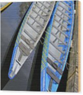 Outrigger Canoe Boats Wood Print