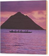 Outrigger Canoe Team Wood Print