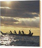 Outrigger Canoe Wood Print