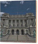 Outside The Library Of Congress Wood Print