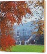 Oval United Methodist Church Wood Print