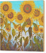 Ovation Sunflowers Wood Print