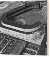 Over 70,000 Fans Jam Yankee Stadium Wood Print by Everett