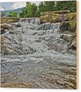Over Natures Dam Wood Print