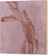 Over Pink Wood Print by Eileen Shahbazian