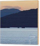 Over Rangeley Lake Wood Print