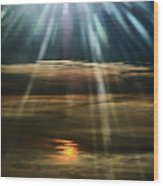 Over Rivers Of Gold Wood Print