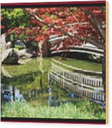 Over Springtime Pond Wood Print