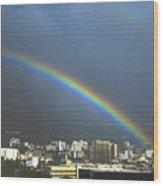 Over the Double Rainbow Wood Print