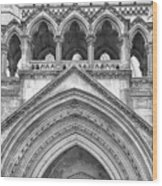 Over The Entrance To The Royal Courts  Wood Print