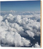 Over The Heavenly Clouds Wood Print