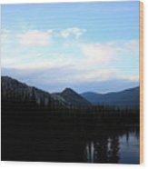 Over The Lake Wood Print