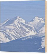 Over The Rockies Wood Print
