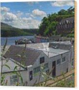 Over The Rooftops At Portree Wood Print