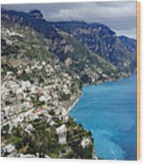 Overall View Of Part Of The Amalfi Coast In Italy Wood Print