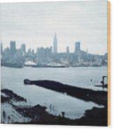 Overcast City Wood Print