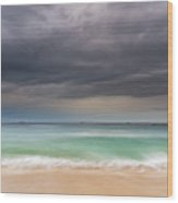 Overcast Morning At The Seaside Wood Print