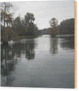 Overcast On The Rainbow River Wood Print
