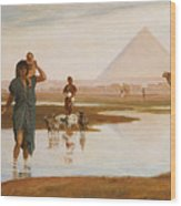 Overflow Of The Nile Wood Print by Frederick Goodall
