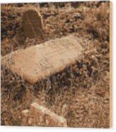 Overgrown Graves Wood Print