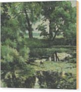 Overgrown Pond Wood Print