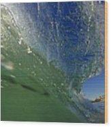 Overhead Wave Wood Print