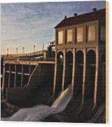 Overholser Dam Wood Print