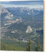 Overlook Banff Vista Wood Print