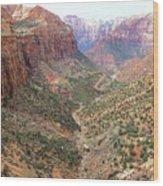 Overlook Canyon Wood Print