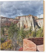 Overlook In Zion National Park Upper Plateau Wood Print
