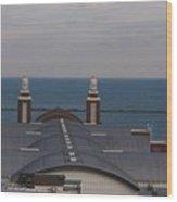 Overlooking Navy Pier Wood Print