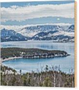 Overlooking Norris Point, Nl Wood Print