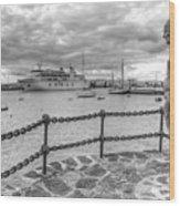 Overlooking Playa Blanca Harbour Wood Print