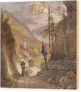 Overlooking Ramsau Bei Berchtesgaden Wood Print