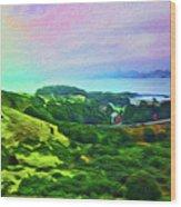 Overlooking San Francisco Bay Wood Print