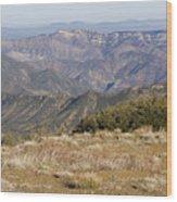 Overlooking Santa Paula Canyon Wood Print