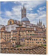 Overlooking Siena And The Duomo Wood Print