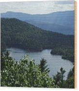 Overlooking The Lake Wood Print
