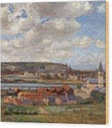 Overlooking The Town Of Dieppe Wood Print
